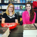 Author signing Tamara and Shannon